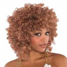 Feeling Groovy & 60's Caramel Afro Wig Head Accessorie