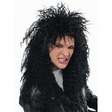 Rock n Roll Black Rocker Wig Costume Accessorie