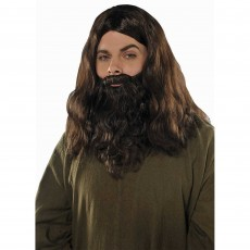 Fairytale Brown Wig & Beard Set Costume Accessorie