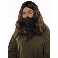 Fairytale Party Supplies - Wig & Beard Set Brown