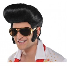 Rock n Roll Black Elvis Wig Costume Accessorie
