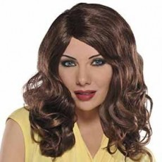 Brown Curly Wig Costume Accessorie