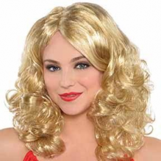 Fairytale Party Supplies - Curly Wig with Highlights Blonde