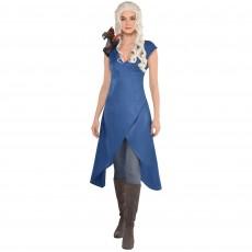 Blue Party Supplies - Adult Costume Slate Blue Dress