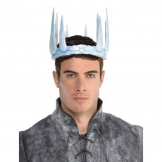 White Ice King Crown Tiara
