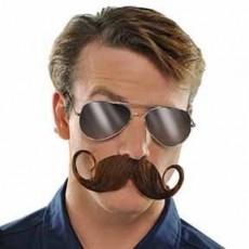 Brown Handlebar Moustache Costume Accessorie