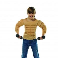Sports Muscle Shirt Child Costume