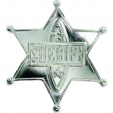 Cowboy Party Decorations Silver Sheriff Badge