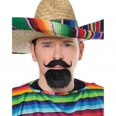 Mexican Fiesta Facial Hair Set Head Accessorie