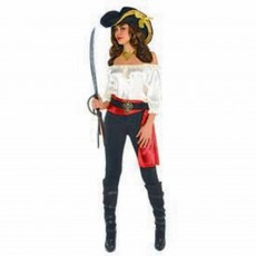 Pirate White Ivory Blouse Women Costume