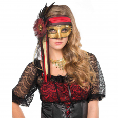 Pirate Feather Mask Costume Accessorie