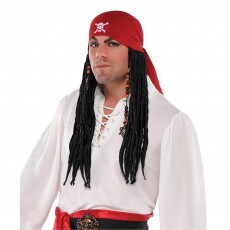 Pirate Bandana with Dreads Head Accessorie