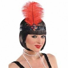 Great 1920's Party Supplies - Gatsby Girl Feather Headband