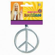 Feeling Groovy & 60's Party Supplies - Peace Medallion Necklace