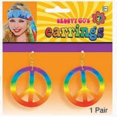 Feeling Groovy & 60's Tie Dye Peace Earrings Jewellery