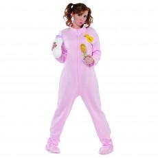 Pink Jammies Onesie Adult Costume