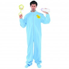 Blue Onesie Jammies Adult Costume