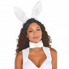 Ears & Tails White Bunny Ears Headband Head Accessorie