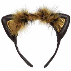 Ears & Tails Party Supplies - Black & Brown Cat Ears Headband
