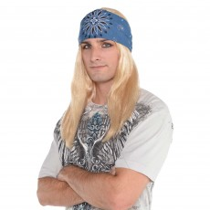Rock n Roll Love of Rock Blond Wig & Bandana Costume Accessorie