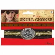 Pirate Skull Choker Costume Accessorie