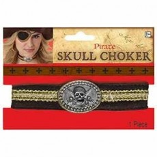 Pirate Skull Choker Necklace Costume Accessorie