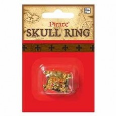 Pirate Gold Skull Ring Costume Accessorie