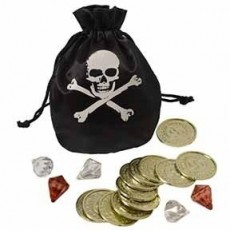 Pirate's Treasure Party Supplies - Coin & Pouch Set