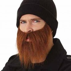 Brown Auburn Beard & Moustache Costume Accessorie