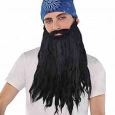 Feeling Groovy & 60's Black Plush Beard & Moustache ii Head Accessorie