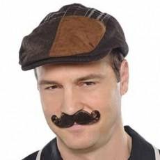 Brown Mini Handlebar Moustache Costume Accessorie