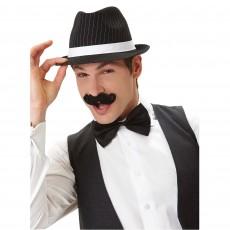 Black Mini Handlebar Moustache Head Accessorie