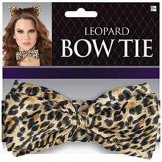Ears & Tails Party Supplies - Leopard Deluxe BowTie