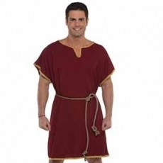 Gods & Goddesses Burgundy Tunic Men Costume