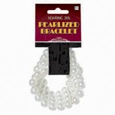 Roaring 20's Faux Pearl Bracelet Costume Accessorie