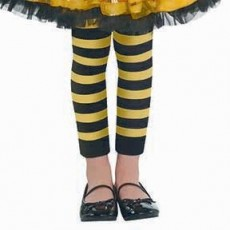 Fairies Party Supplies - Child Costume Bumblebee Fairy Footless Tights