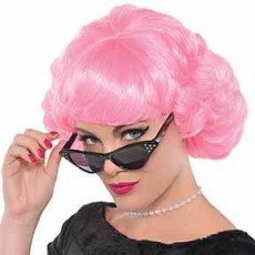 Rock n Roll Pink Lady Wig Head Accessorie