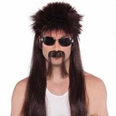 Disco & 70's 18 Wheeler Brown Wig Kit Head Accessorie