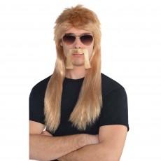 Disco & 70's 19 Wheeler Blond Wig Kit Head Accessorie
