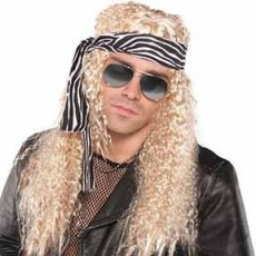Rock n Roll Party Supplies - Rock Star Wig Kit