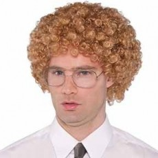 Awesome 80's Geek Wig & Glasses Head Accessorie