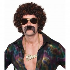 Disco & 70's Disco Hound Wig Set Head Accessorie