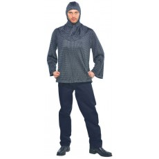 Gods & Goddesses Chain Mail Tunic & Hood Adult Costume
