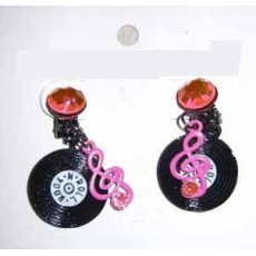 Rock n Roll Party Supplies - Record Earrings