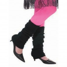 Awesome 80's Black Leg Warmers Costume Accessories