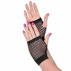 Awesome 80's Party Supplies - Fishnet Gloves Black