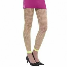 Awesome 80's Neon Fishnet Leggings Adult Costume