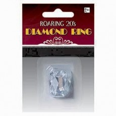 Great 1920's Faux Diamond Ring Costume Accessorie