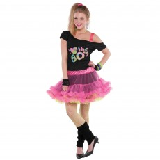 Awesome 80's Reversible Skirt Women Costume