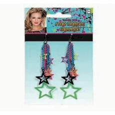 Awesome 80's Dangly Star Earrings Costume Accessorie